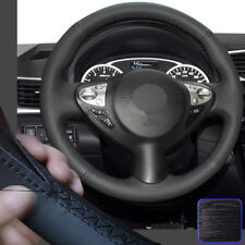 Leather Steering Wheel Cover for Nissan Juke 11-17 Maxima Infiniti FX35 50 QX70