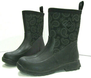 Original Muck Boot Company Women's US Size 5 Mid Black Work Snow Boots 080016