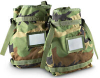 2 New U.S.G.I Molle II Military Large Radio Pouch Woodland Camo Bag Tote Pack US
