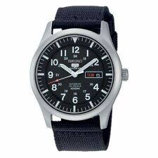 Relojes de pulsera Seiko 5 de tela/cuero para hombre