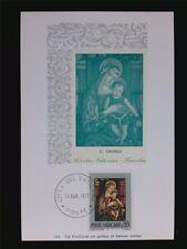 VATICAN MK 1971 MADONNA & JESUS CHRISTUS MAXIMUMKARTE MAXIMUM CARD MC CM c6227