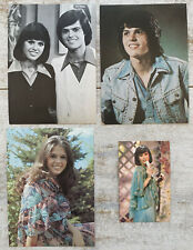 4 Vintage Donny & Marie items ~ 3 postcards / 1 Marie wallet calendar 1977
