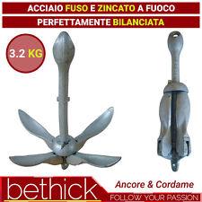 ANCORA AD OMBRELLO PIEGHEVOLE 3,2KG IN ACCIAIO ZINCATO - BARCA GOMMONE