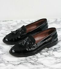 RUSSELL & BROMLEY Black Patent Leather Campus Loafers, Size EU 41.5 / UK 8.5