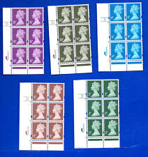 Harrison Cylinder Blocks Machin GB stamps 2p to 31p