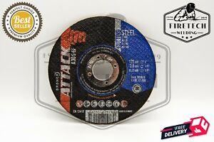 """Osborn (5"""") 125mm x 3mm x 22.23mm FLAT Stainless Steel Metal Cutting Discs"""