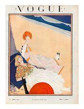 Vogue Paris Magazine, Reprint Jul 1923, V 4.24 Art Deco Fashion Drawings, 1920's