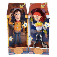 "2PCS WOODY Toy Story 3 Pull String JESSIE 15"" Talking Action Figure Doll Toys"