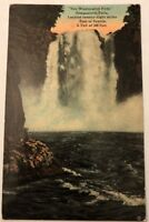 """Postcard """"See Washington First Snoqualmie Falls"""" East Of Seattle-Postmarked 1915"""