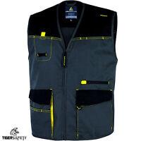 Delta Plus Panoply DMGIL D-Mach Mens Grey Multi Pocket Work Vest Gilet Tool Vest