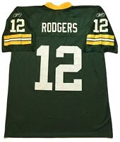 NFL Reebok Aaron Rodgers 12 Green Bay Packers Jersey Men's L
