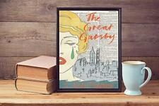 The Great Gatsby  Upcycled Recycled Vintage Dictionary Page Art Print A4