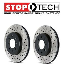 Pair Set of Rear StopTech Drilled Slotted Brake Rotors for Subaru BRZ Impreza