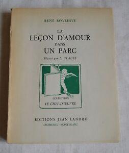 LA LECON D AMOUR DANS UN PARC DE RENE BOYSLEVE  CLAUSS ED JEAN LANDRU 1946 BE