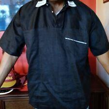 W. AFRICA BURKINA FASO DESIGNER FATIMA BONKONGOU CUSTOM HANDMADE POLO SHIRT! W@W