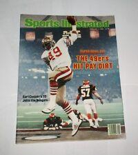 1982 NO LABEL ! Sports Illustrated SAN FRANCISCO 49ers 1st SUPER BOWL ! NICE !!