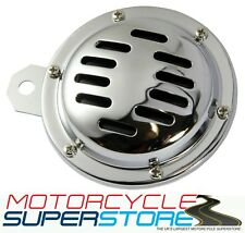 UNIVERSAL LOUD REPLACEMENT 12v MOTORCYCLE MOTORBIKE SLITTED CHROME HORN 110db