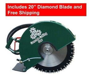 "Hydraulic Concrete Cutting Handsaw — 20"" (Diamond Blade Included)"
