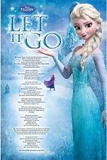 Disney Frozen Poster Elsa Let It Go Lyrics size 24x36