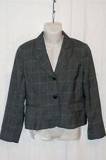 Ladies HOBBs Smart Suit Jacket - Size 14 - Grey &Purple Check Blazer