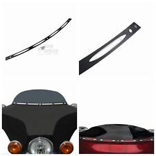 Black 4-Slot Windshield Trim for Harley 2014-2016 Touring Street Glide FLHX