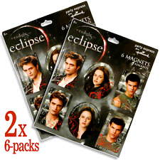 2x 6-packs Twilight Eclipse Movie Magnets featuring Bella Jacob & Edward _3130
