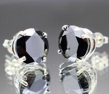 4.10tcw REAL Natural Black Diamond Stud Earrings AAA & $2250 Value.....