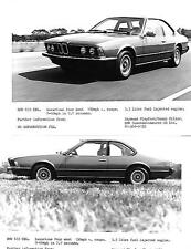 "PAIR OF BMW 633 CSi  PRESS PHOTO S  ""brochure related"""