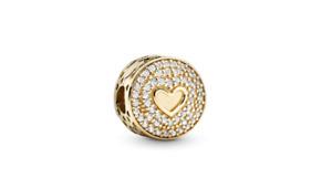 Pandora 14k Gold Heart of Luxury Charm, New w/Tags, Authorized Dealer - 757557CZ