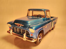 1955 Cameo Pickup truck Chevy Chevrolet 1/25 built model car kit wood bed blue