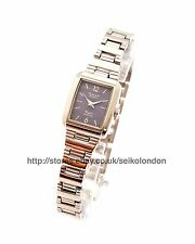 Omax Ladies Blue Dial Watch, Silver Finish, Seiko Movt. RRP £49.99