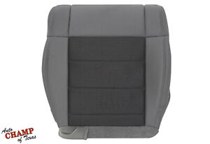 2007-2010 Jeep Wrangler -Driver Side Bottom Replacement Cloth Seat Cover Gray