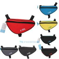 Cycling Bike Bicycle Pannier Front Tube Frame Pouch Triangle Bag Holder Saddle