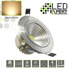 5 x 3w LED Expert Warm White Tilting led Down Lighters Silver Bezel IP40 230v