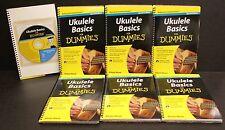 6 Ukulele Basics For Dummies Learning HOW TO BOOK &  CD Bulk School teacher SALE