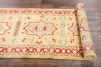 Top Quality Geometric 10 ft Runner Rug Hand-Knotted Oriental Wool Carpet 3'x10'