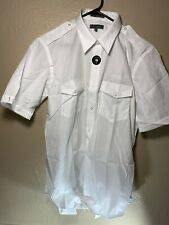 American Airlines Pilot Button Up Shirt Size XL 17 White Short Sleeve Uniform