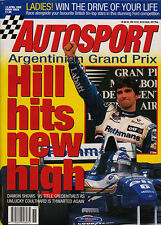 Autosport 13 Apr 1995 - Hill wins, Schumacher waits, Indycar,  Rally News,