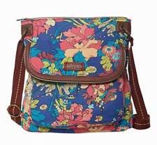 NWT Sakroots Flap Crossbody Shoulder Bag Royal Flower Power New SHIP INT'L