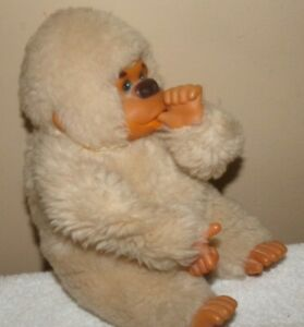 vintage Plush Stuffed Animal Baby GONGA Ape Gorilla ~ 1977 Russ Berrie