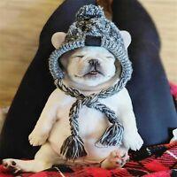 Winter Pet Dog Hat Cap Xmas Warm Windproof Pet Hats Woolen Dog Accessories