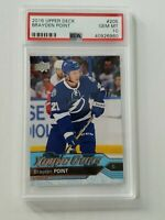 2016/17 Upper Deck Brayden Point Young Guns Rookie RC! PSA 10! TB Lightning
