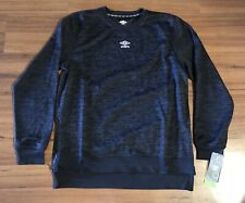 Umbro Crewneck Side Zip Pullover Sweatshirt Mens Sz Large Black White NEW!!!