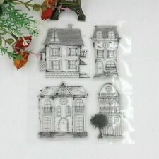 DIY Clear House Stamps Villa Die Scrapbook Card Paper Craft Silicon Transparent