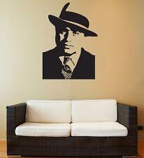 Wall Stickers Vinyl Decal Gangster Al Capone Mafia z1203