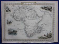 Antique atlas map AFRICA, MADAGASCAR, Tallis, Rapkin, published c.1851