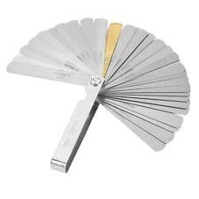 32 Blades Steel Feeler Gauge Metric & Imperial Thickness Tool 0.04-0.88mm