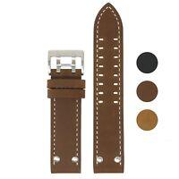 StrapsCo 22mm Vintage Leather Watch Band Strap for Hamilton Khaki Field