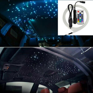 RGB Fiber Optic Star Light kit For Car Limo Headliner Lighting RF Remote Control