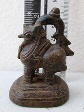 SUPERB! 19th.c Bronze Singh Lion Opium Weight 160.g
